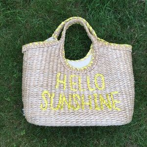 Kate Spade Hello Sunshine Straw Willow Tote